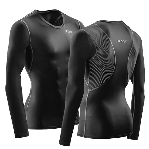 Для занятий спортом Высокотехнологичная футболка CEP WINGTECH с поддержкой осанки с длинными рукавами C189M_5.jpg