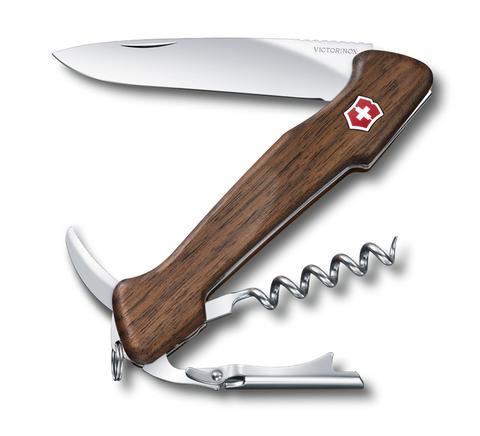 Складной нож Victorinox Wine Master Walnut Wood (0.9701.63) 130 мм. в сложенном виде, 6 функций, ореховое дерево - Wenger-Victorinox.Ru