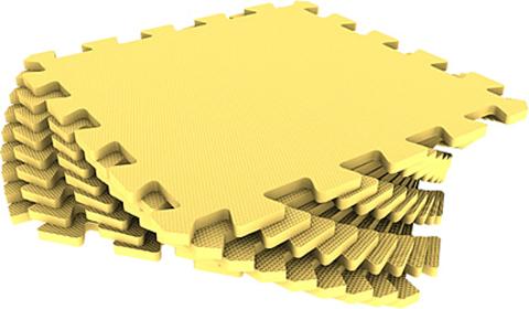 Набор мягких плиток 30*30 см. Желтый. Коврики-пазлы.