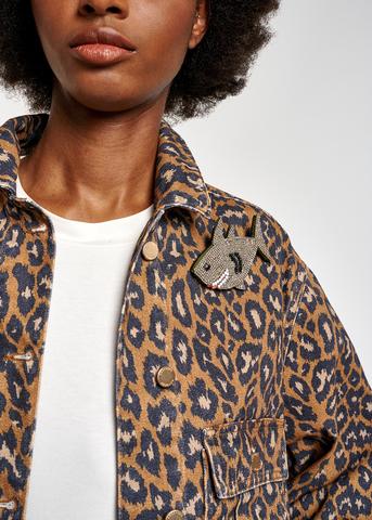 Essentiel Antwerp Джинсовая куртка в лео-узор