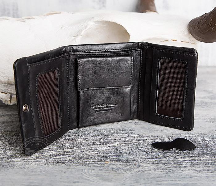 WL286-1 Мужской кожаный кошелек с монетницей фото 08