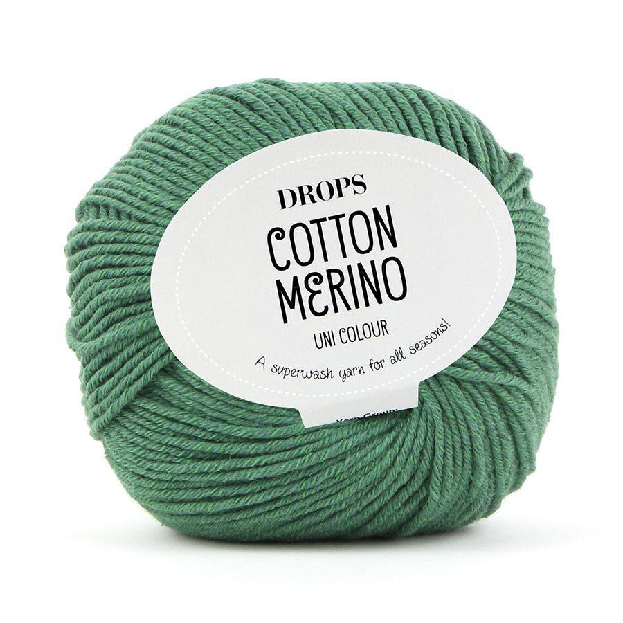 Пряжа Drops Cotton Merino 11 зеленый мох