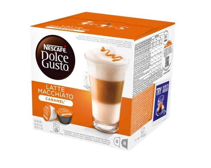 Кофе в капсулах Dolce Gusto Latte Macchiato Caramel, 16 капсул
