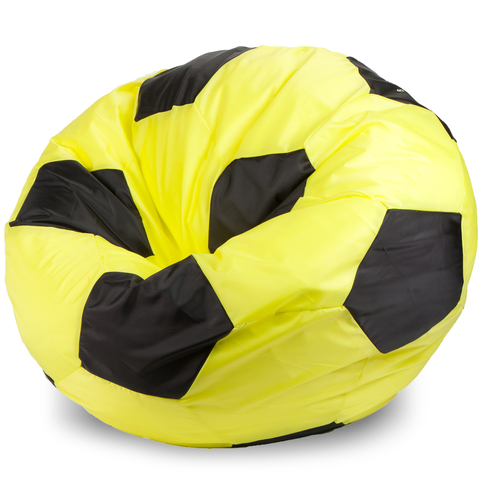 Кресло-мешок мяч  L, Оксфорд Желтый и черный