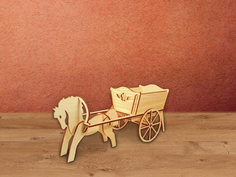 Тележка с лошадкой