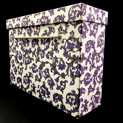 Коробка с ручками Чемодан Флорентийский фиолетовый