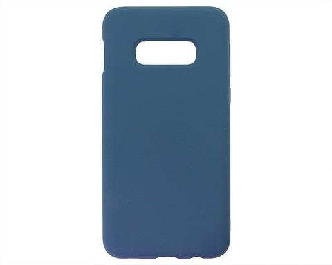 Чехол для Samsung (G970F) Galaxy S10e Софт тач мягкий эффект | микрофибра нежно-синий