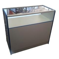 Прилавок ПП-1 (1000мм) ЛДСП/стекло, кромка синяя