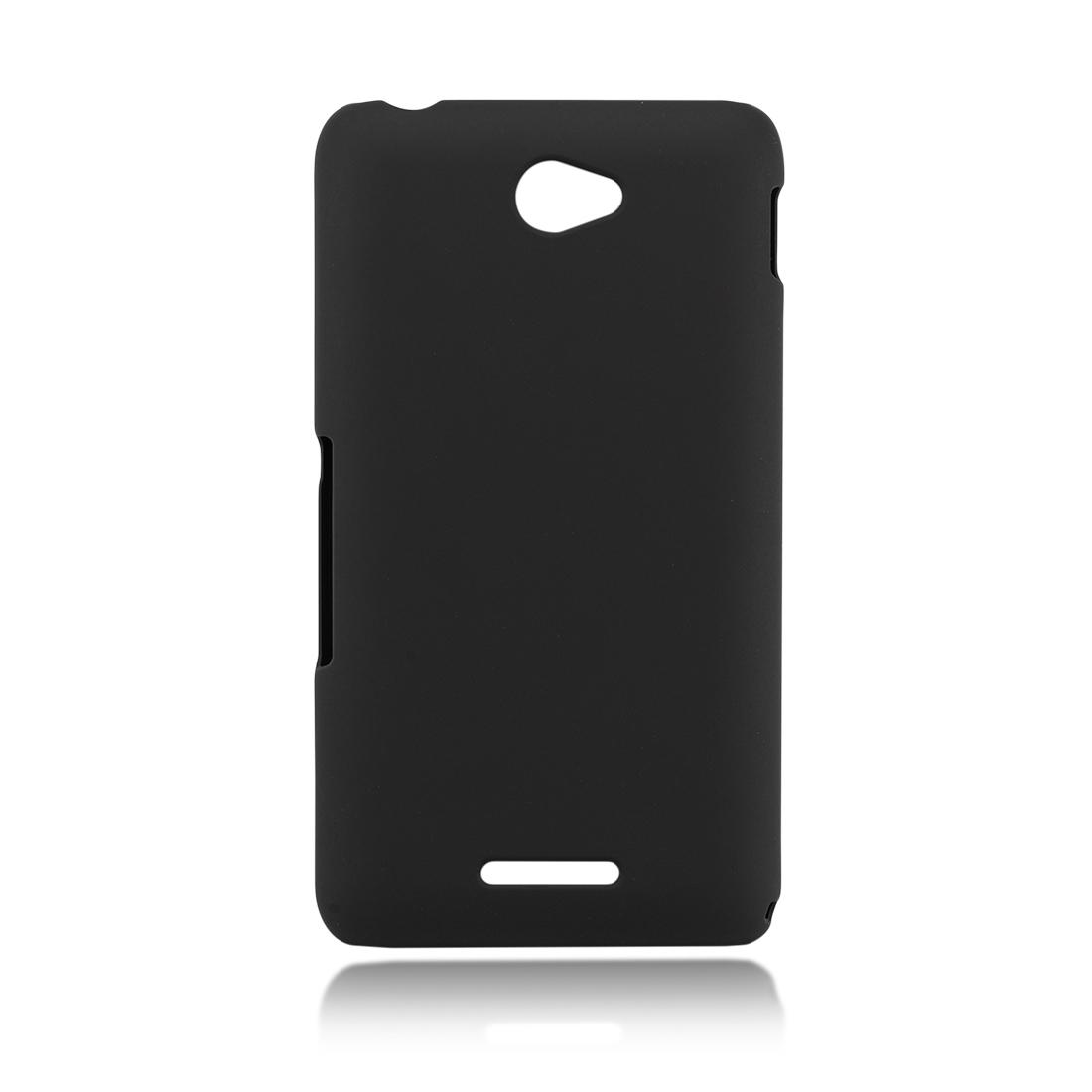 Пластиковая накладка для Xperia E4 чёрного цвета в Sony Centre Воронеж