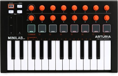 MIDI-клавіатура/контролер Arturia Minilab MKII (Orange Edition)