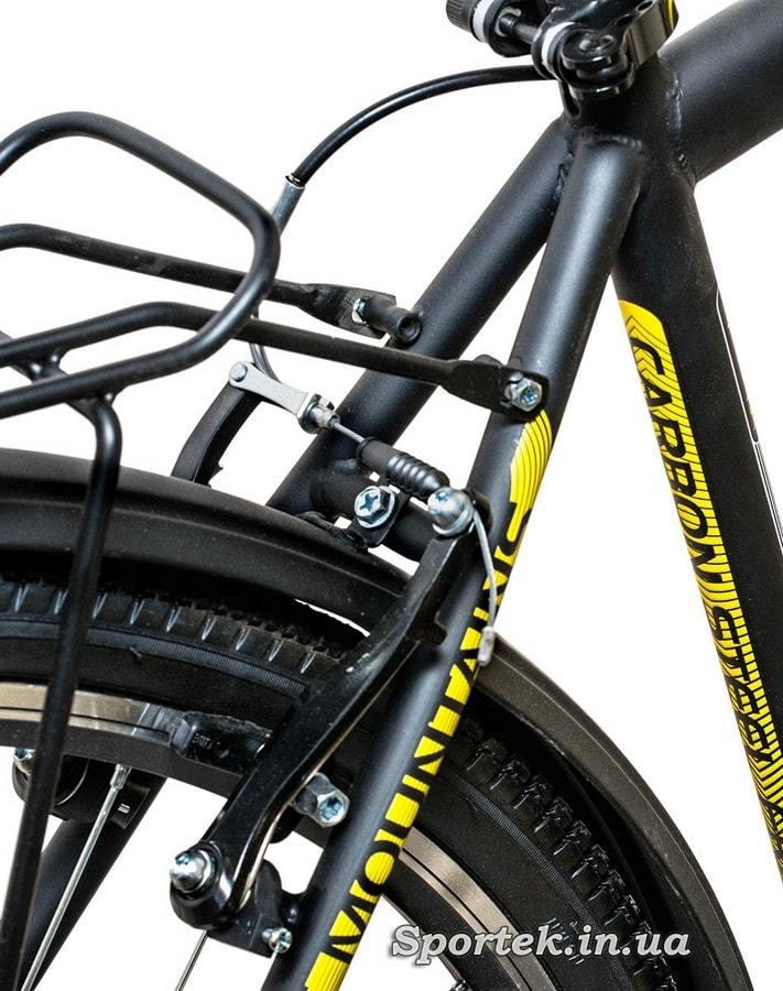Задній гальмо міського чоловічого велосипеда Формула Горизонт 2015