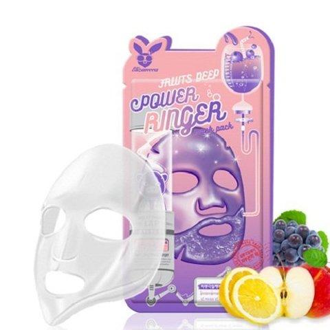 Elizavecca Тканевая маска для лица Фруктовая FRUITS DEEP POWER Ringer mask pack, 23мл