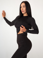 Женский рашгард Lion gym MAXI PERFORATION RASHGUARD BLACK