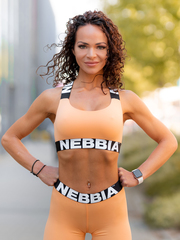 Топ NEBBIA Power Your Hero iconic sports bra 535 APRICOT