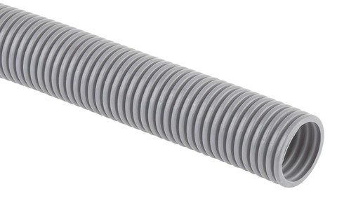 Труба гофрированная ПВХ (серый) d20мм с зонд.легкая 20м