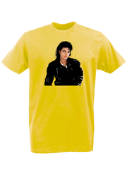 Футболка с принтом Майкл Джексон (Michael Jackson) желтая 001