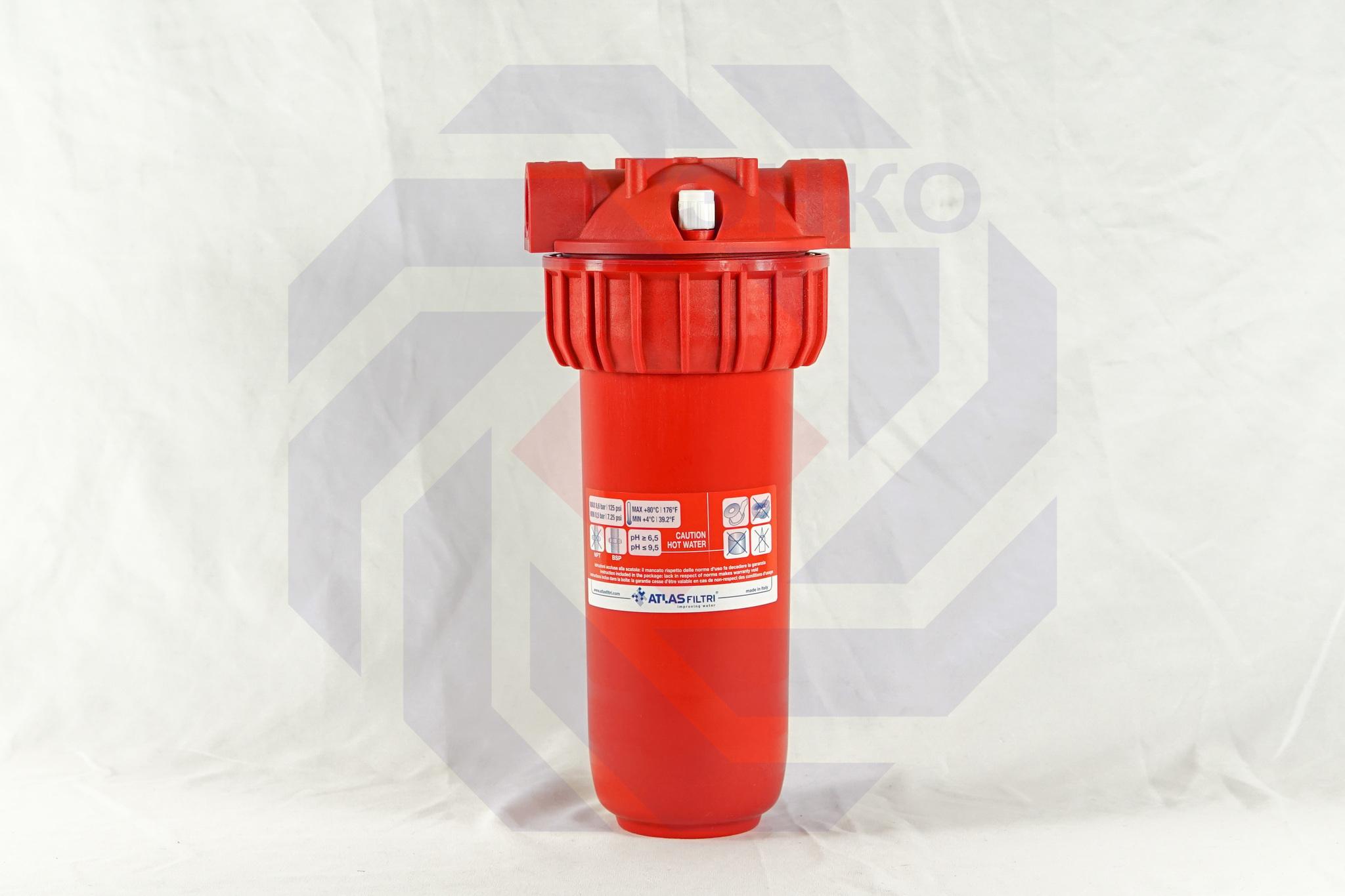 Корпус фильтра одинарный для горячей воды ATLAS SENIOR PLUS HOT 3P MFP SX AB ½