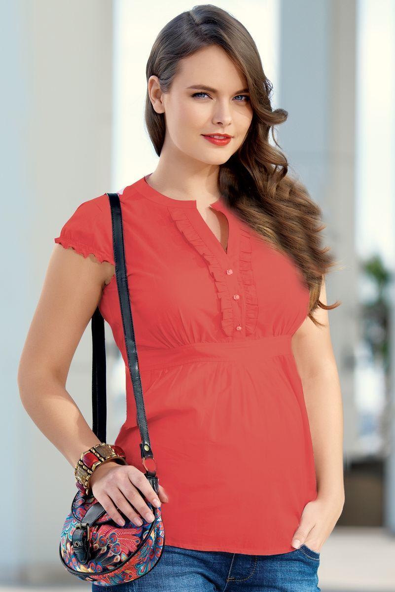Рубашка для беременных 01329 красный