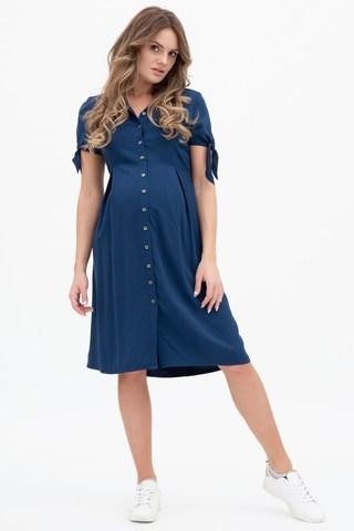Платье для беременных 11556 синий