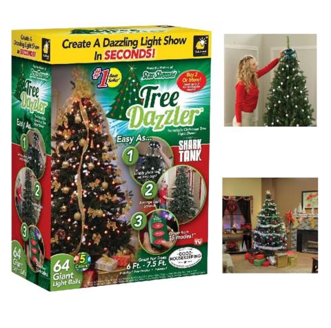 Конусная елочная гирлянда Tree Dazzler 64 лампочки