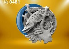 Силиконовый молд  Щука  (медальон) № 0481