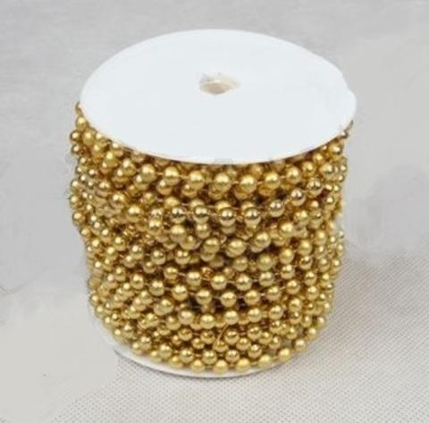 Бусы на бобине (размер: 8мм х 10м) Цвет:золотой