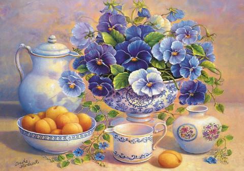 Алмазная Мозаика 50x65 Натюрморт с абрикосами