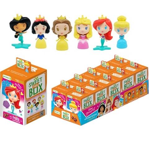 СВИТБОКС DISNEY ПРИНЦЕССЫ ЧИБИ FRUITLS Фруктовые пастилки с игрушкой в коробочке  1кор*12бл*10шт, 5г.