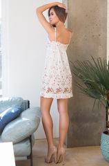 Сорочка Миа-Миа белая цветочный принт 16310