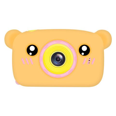 Фотоаппарат детский SmileZoom Мишка с селфи-камерой / Оранжевый