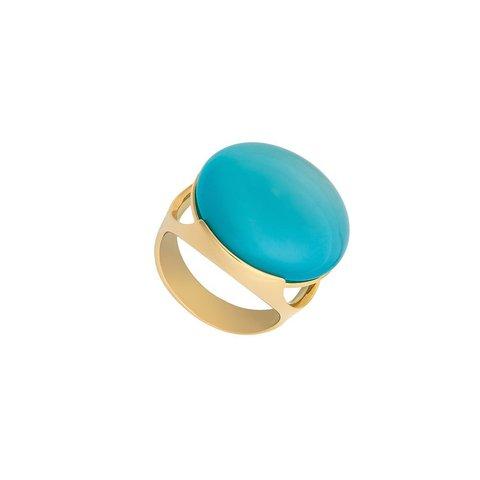 Кольцо Pearl Blue Sky Agate 17.2 мм K1977.21/17.2 B/G