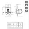 Встраиваемый термостатический смеситель для душа AROLA 268712S на 2 выхода - фото №2