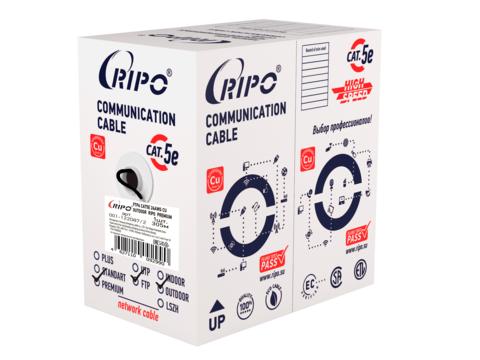 Витая пара FTP 4 CAT5E 24AWG Cu outdoor Ripo Premium, 305м.,Fluke test (КСВППэ -5е 4*2*0.51)