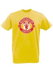 Футболка с принтом FC Manchester United (ФК Манчестер Юнайтед) желтая 001