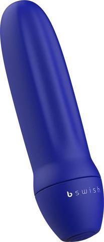 Синяя рельефная вибропуля Bmine Basic Reflex - 7,6 см.