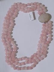 3 ряда ( колье - розовый кварц )