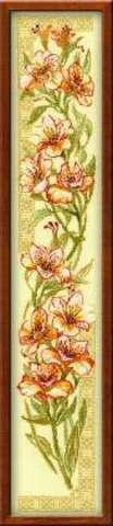 производитель РИОЛИС ¶артикул 939¶размер20х92¶техника счетный крест¶тематика цветы¶состав канва 15 A