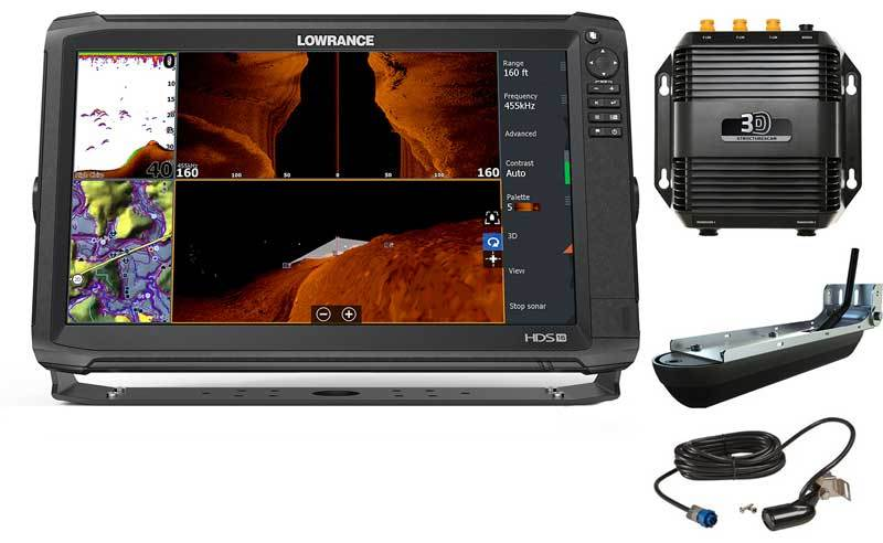 Lowrance HDS-16 Carbon с StructureScan3D и датчиком HST-WSBL