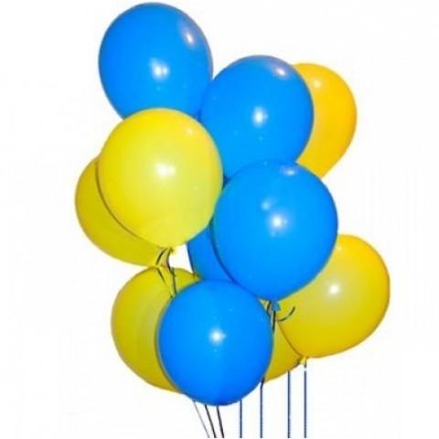 Воздушные шары с гелием Желто-синие