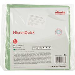 Салфетки хозяйственные Vileda Professional МикронКвик микроволокно 40x38 см зеленые 5 штук в упаковке (арт. производителя 152112)