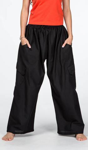 Черные широкие штаны Кобальт