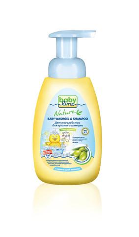 Детское средство для купания и шампунь Babyline Nature 250 мл с масло оливы
