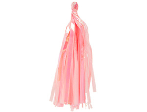 Гирлянда Тассел розовая перламутр