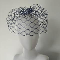 Вуаль сетка для шляп вафельная, ширина 20 см.