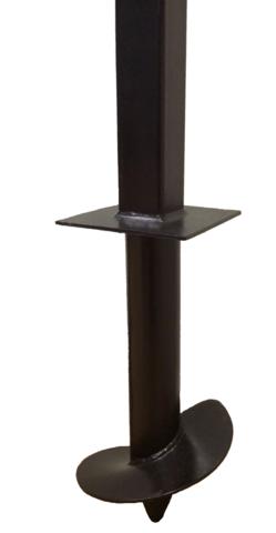 Столб 3,5 метра для забора комбинированный 76/80х80