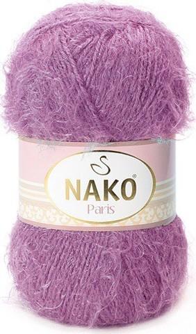 Пряжа Nako Paris 6684 фиолетовый