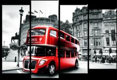 """Модульная картина """"Лондонский автобус"""""""