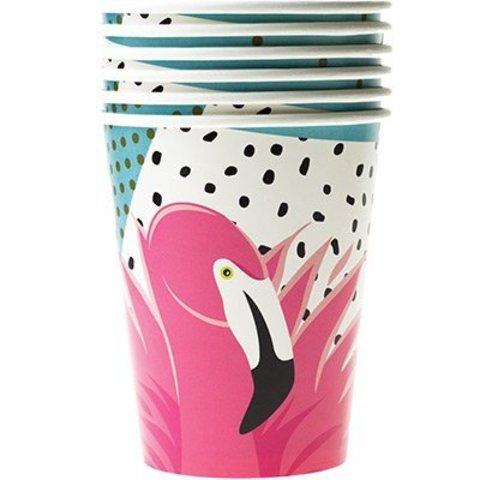 Стакан бум Фламинго 250мл 6шт/G