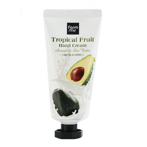 FarmStay Tropical Fruit Hand Cream крем для рук с маслом ши и авокадо