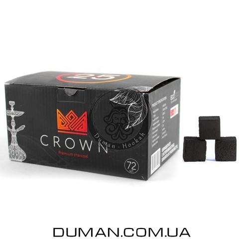 Натуральный кокосовый уголь Crown (Краун) для кальяна |1кг 72куб 25*25мм